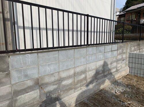 ブロック塀 破損部補修 積み替え工事